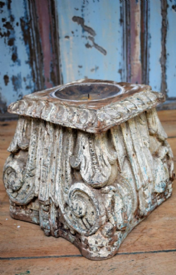 Antique Pillar Base Candle Holder <b>SOLD<b>